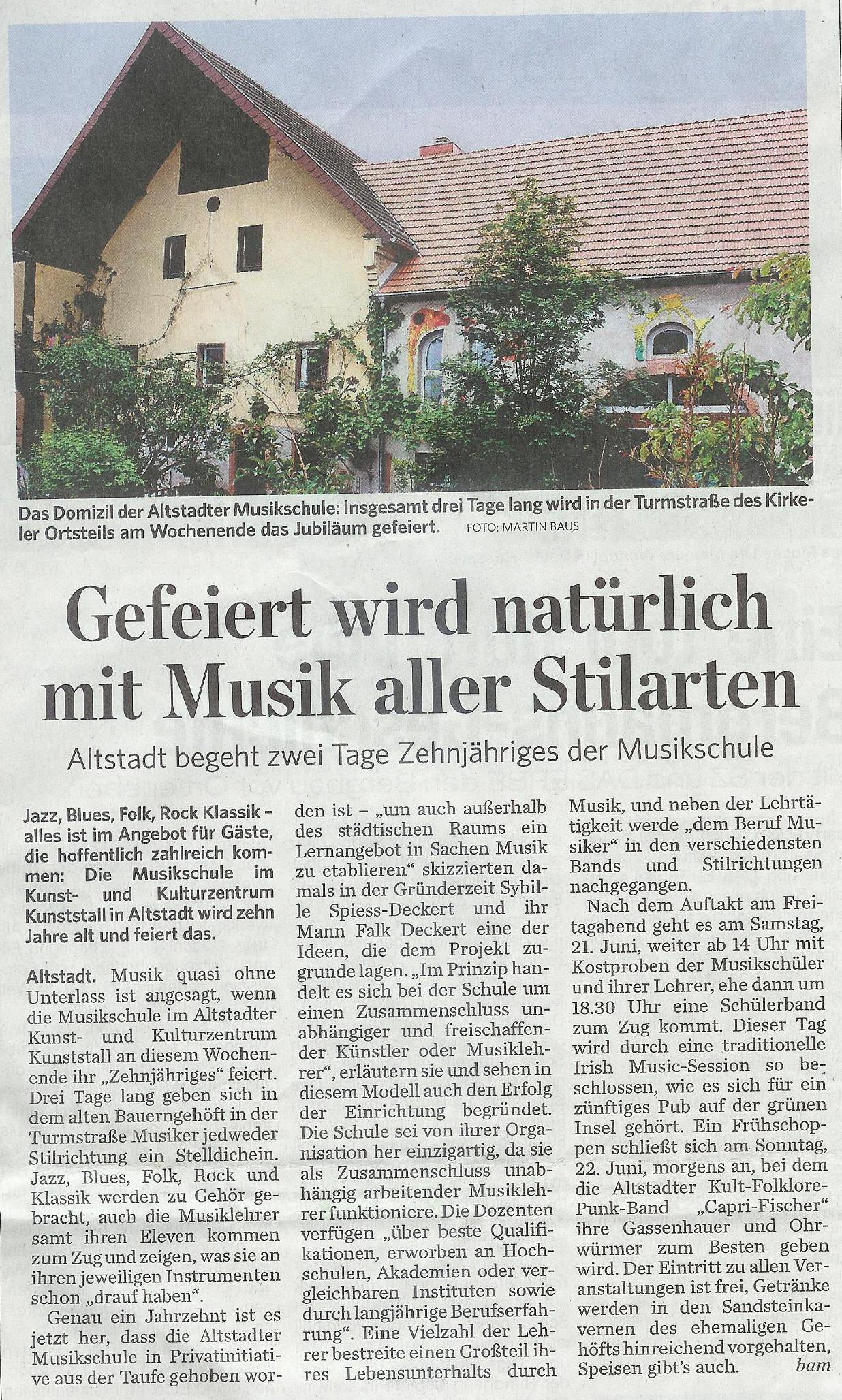 Artikel Saarbrücker Zeitung 001